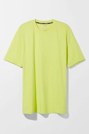 Bershka Erkek Lime Long Fit T-shirt 4