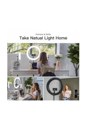 SAYWİN Kuaför Makyaj Çekimleri Ring Light Sürekli 10 inç Işık 2m 1