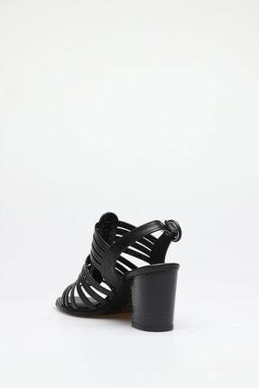 ALTINAYAK Kadın Siyah Çok Bant Topuklu Sandalet 3