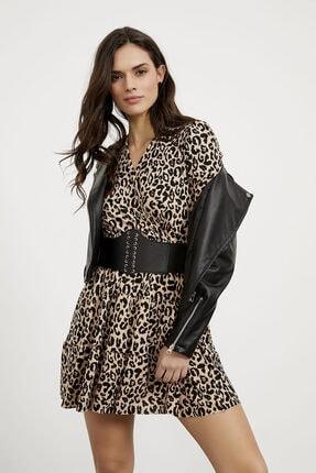 Arma Life Kadın Kahverengi Kruvaze Kaşkorse Elbise 2
