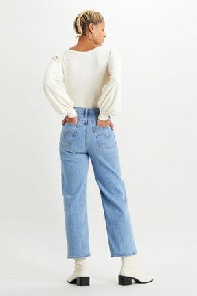 Levi's Kadın Mavi Yüksek Bel Pamuklu Ribcage Jeans Kot Pantolon 72693 2