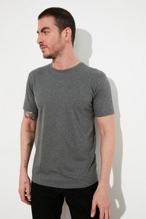 TRENDYOL MAN Çok Renkli Erkek Basic Slim Fit 3'lü Paket T-Shirt  TMNSS19BO0007 1