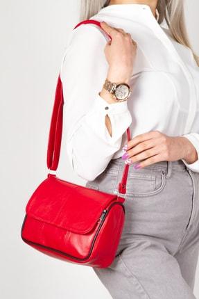 Kindfox Hakiki Deri Mini Lüks Kapaklı Kadın Çapraz Ve Omuz Çantası   Yeni Model 0