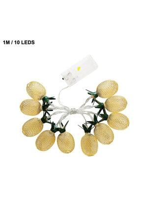 Taled 3 Boyutlu Animasyonlu Pineapple Ananas Şerit Led Işık 1 M 10 Led Günışığı Dekoratif Led 3