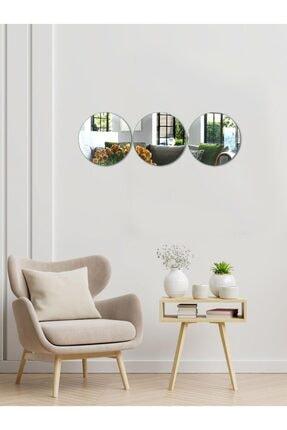 Decovetro Ayna | 3 Parça Yuvarlak Dekoratif Duvar Aynası 1
