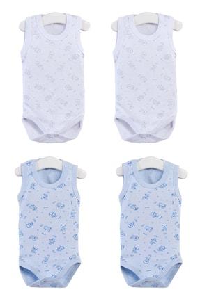 Pattaya Kids Bebek Kolsuz Beyaz Mavi Çıtçıtlı Body Ptk20s-401 0