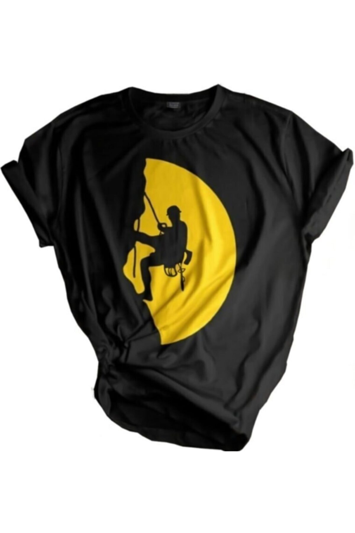 Unisex Siyah Store Outdoor Baskılı T-shirt