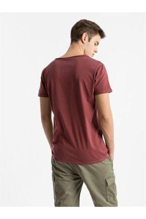 Ltb Erkek Bordo Kısa Kollu T-Shirt 3