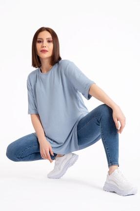 GİYSA Boyfriend Kaşkorse Mavi T-shirt 3683 1