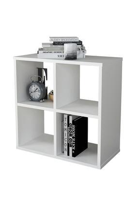 Sanal Mobilya Cube 4 Raflı Kitaplık Medıum Mat Beyaz 4