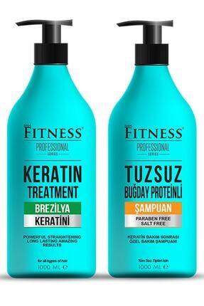 Fitness Professional Saç Düzleştirici Keratin Bakımı Ve Tuzsuz Şampuan Seti 1000 Ml 0