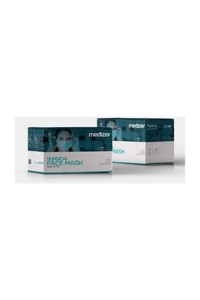 Sabomar Medizer Full Ultrasonik Cerrahi Ağız Maskesi 3 Katlı Meltblown Kumaş 50 Adet - Burun Telli 3