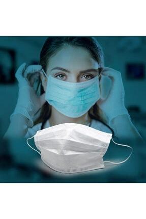 Sabomar Medizer Full Ultrasonik Cerrahi Ağız Maskesi 3 Katlı Meltblown Kumaş 50 Adet - Burun Telli 4