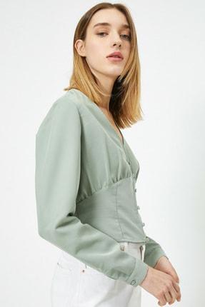 Koton Kadın Su Yeşili Bluz 0KAL68861IW 0