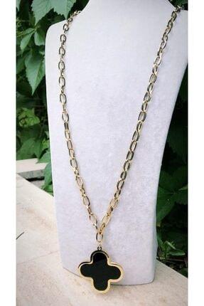 Latua Aksesuar Kadın Van Cleef Gold Renkli Uzun Çelik Kolye 0