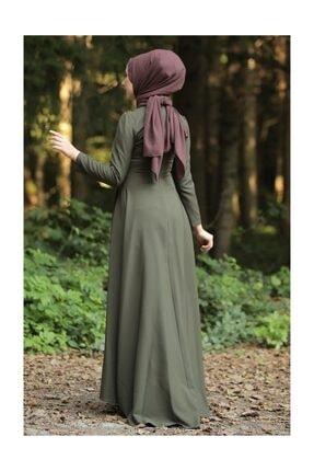 Tesettür Dünyası Kadın Haki Abiye TSD9651 1