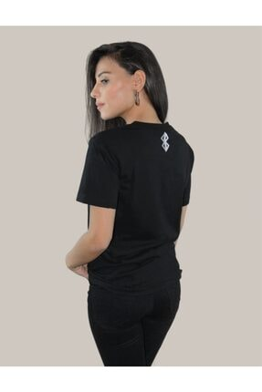 BASIC MIRROR Kadın Vantablack Regular Fit Basic T-shirt 3