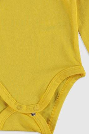 LC Waikiki Kız Bebek Sarı Ftt Bebek Body & Zıbın 2