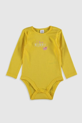 LC Waikiki Kız Bebek Sarı Ftt Bebek Body & Zıbın 3