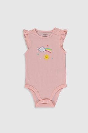 LC Waikiki Kız Bebek Pembe Fxb Bebek Body & Zıbın 3