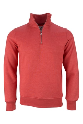 Fimerang Diagonal Yarım Fermuarlı Sweatshirt 1