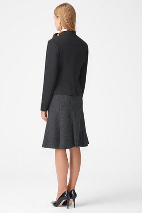 Naramaxx Kadın Siyah Yakasız Klasik Siyah Ceket 18K11111Y238001-Sıyah 2