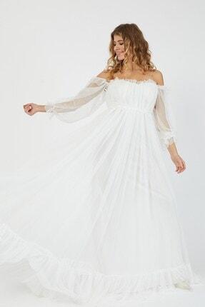 Shine İstanbul Hayal Tül Beyaz Elbise 2
