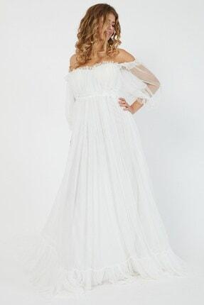 Shine İstanbul Hayal Tül Beyaz Elbise 4