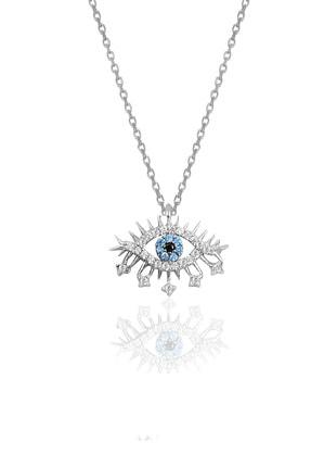 Söğütlü Silver Gümüş Rodyumlu Lareyn Modeli Kolye 0