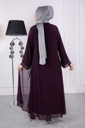 behrem Lale Abiye Elbise Mürdüm 53008 4