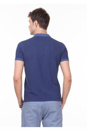 Ramsey Erkek İndigo Düz Örme T - Shirt RP10120144 3
