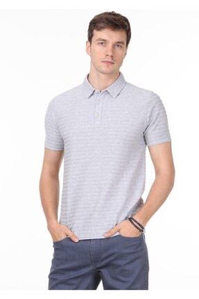 Ramsey Erkek Açık Gri Jakarlı Örme T - Shirt RP10119771 2