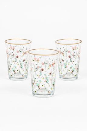 Rakle Flora 3'lü Su Bardağı Seti 0