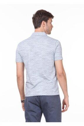 Ramsey Erkek İndigo Jakarlı Örme T - Shirt RP10119897 3