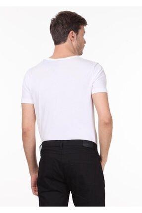 Ramsey Erkek Beyaz Baskılı Örme T - Shirt RP10120145 3