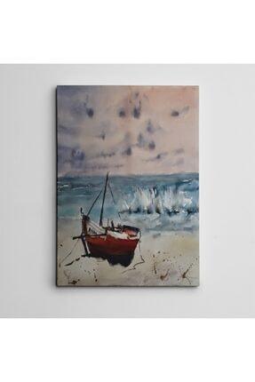 Dekolata Kıyıda Tekne Mini Kanvas Tablo 35 X 50 cm 0
