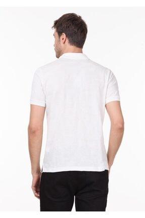 Ramsey Erkek Beyaz Jakarlı Örme T - Shirt RP10119893 3