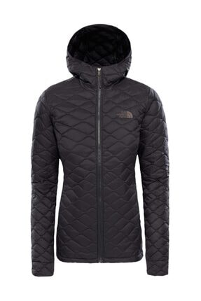 The North Face Thermoball Hooded Insulated Kadın Mont Mat Siyah 0