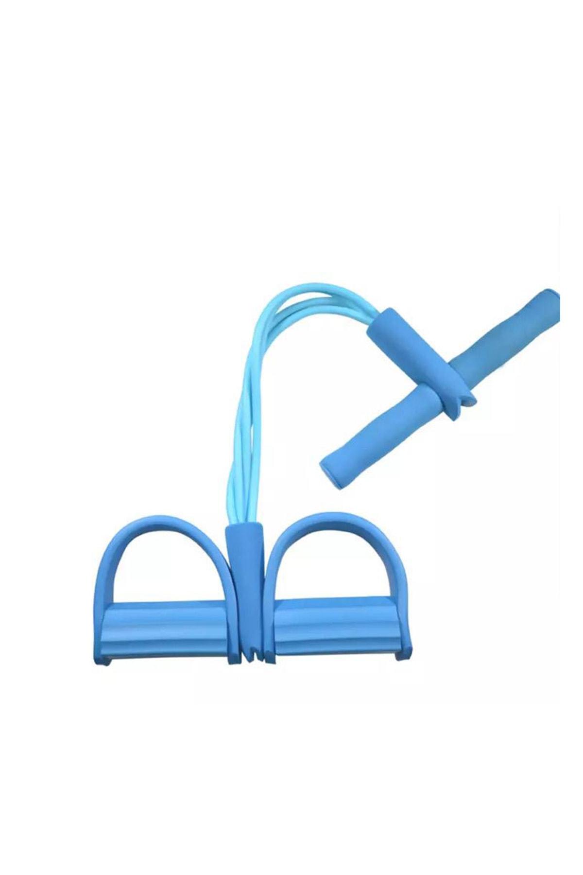 Clifton Body Trimmer Egzersiz Aleti El Ayak Egzersiz 4'lü Direnç Lastiği Mavi 0