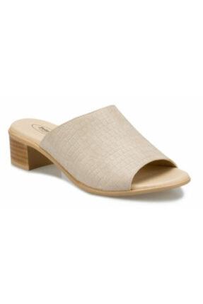 Polaris 161028 Bej Renk Rahat Taban Kadın Günlük Topuklu Terlik 0