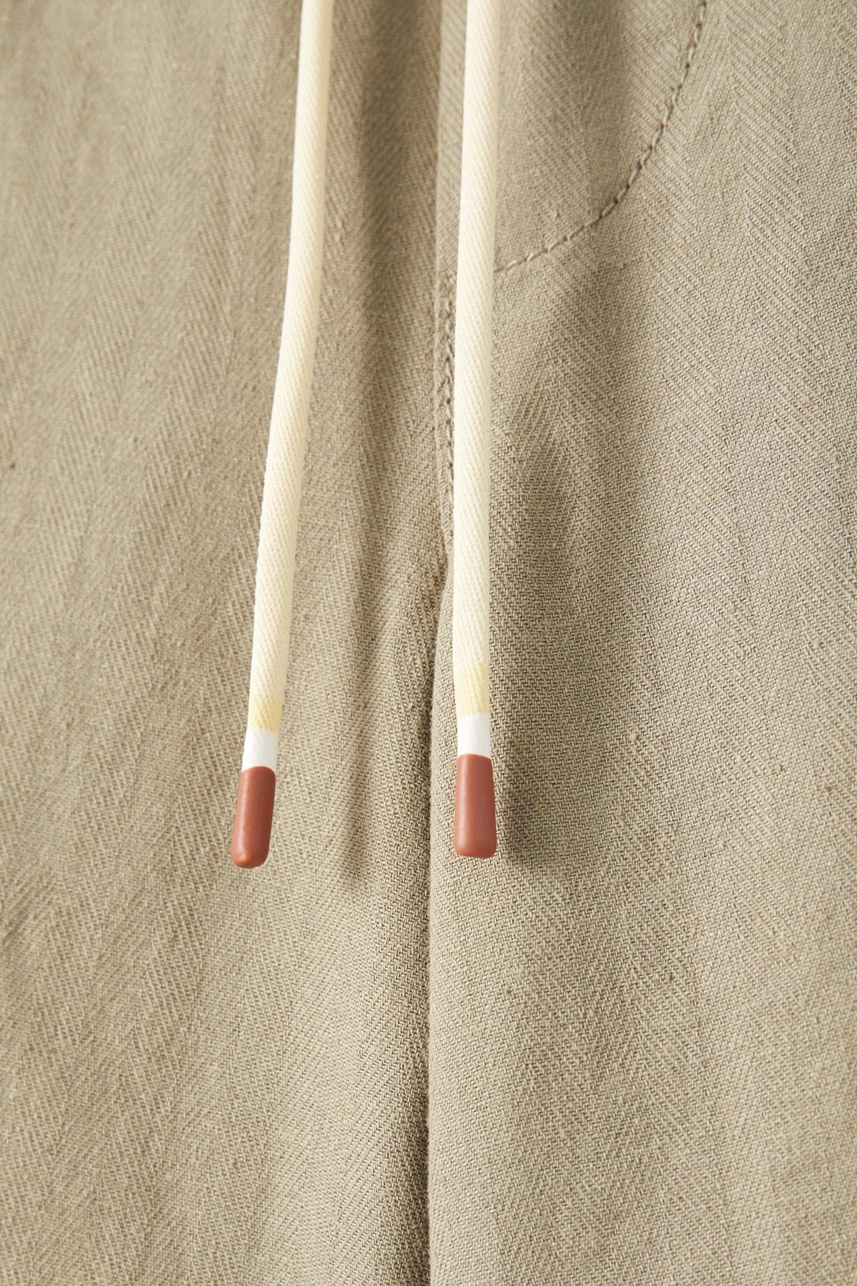Pull & Bear Erkek Haki Keten Chino Model Bermuda 09695501 1