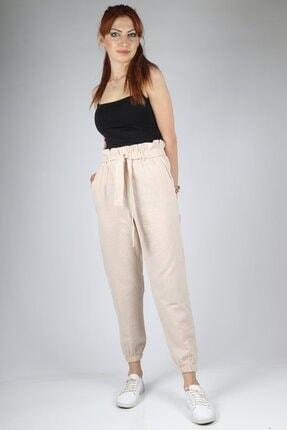 HAKKE Kadın Vizyon Bel Kurdele Paça Lastik Pantolon 2