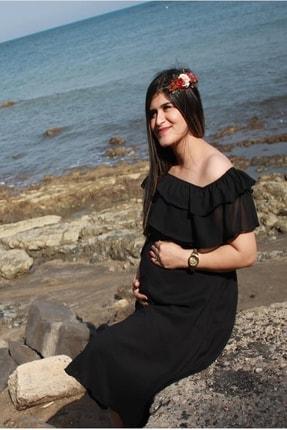 MACFLY Carmen Yaka Fırfır Elbise 1