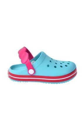 Kiko Kids Kız Çocuk Mavi Plaj Sandalet E196.46 1