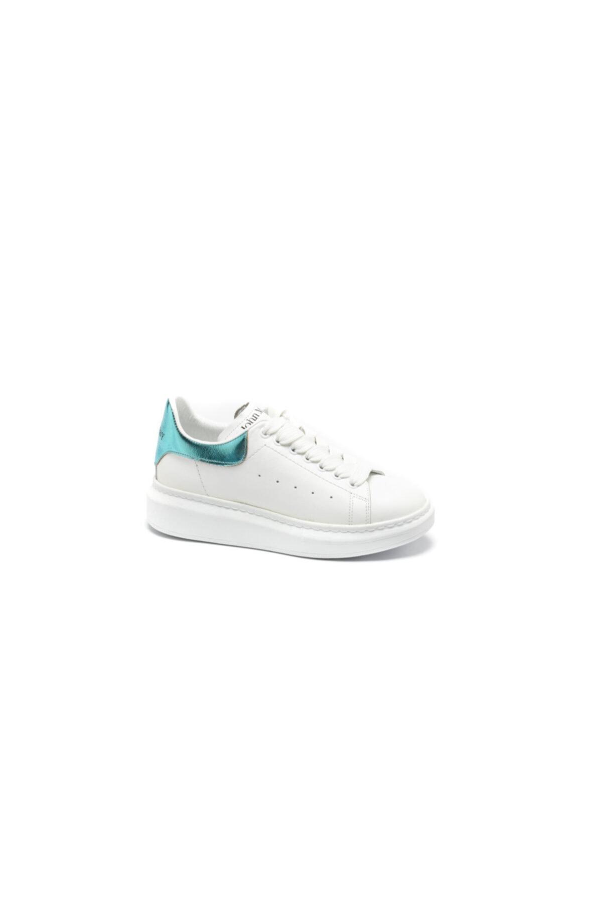 John May Kadın / Kız Sneaker Mzn- 9 Beyaz Deri/tartufe Rose