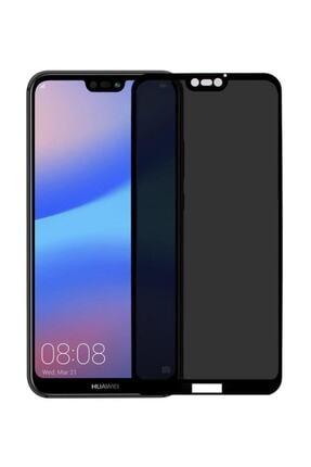 Omelo Huawei P40 Lite Kırılmaz Ekran Koruyucu Gizlilik Filtreli Hayalet Cam Komple Kapatan Cam Hediyeli 1