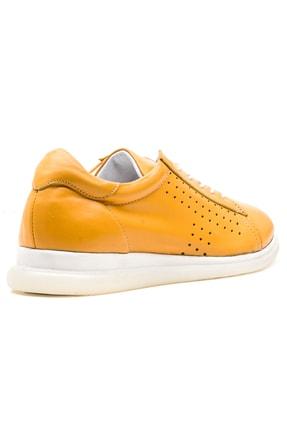 GRADA Sarı Hakiki Deri Günlük Casual Kadın Ayakkabı 3