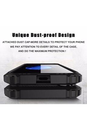 cupcase Huawei Mate 20 Pro Kılıf Desenli Sert Korumalı Zırh Tank Kapak - Mavi Benekler 2
