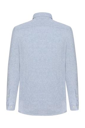 Mudo Erkek Açık Mavi Regular Kesim Keten Gömlek 368435 1