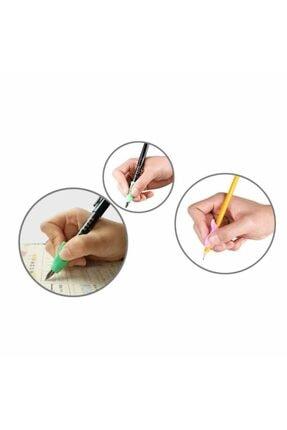 Aksh Pencil Grip Kolay Kalem Tutamağı Kavrama Yazı Yazma Tutuş Düzeltme Yardımcı Pembe 4